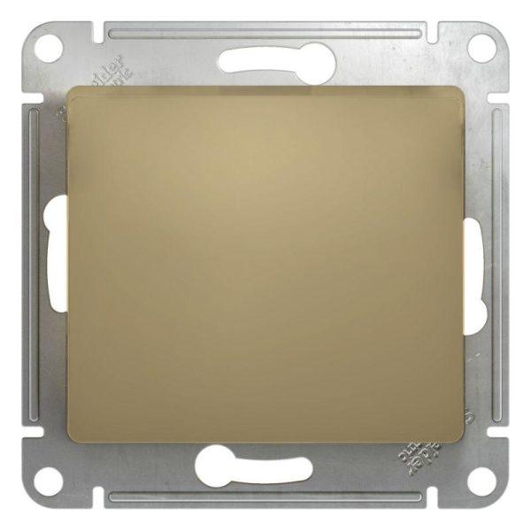 Механизм выключателя 1-кл. СП GLOSSA 10А IP20 10AX титан SchE GSL000411