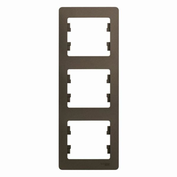 Рамка 3-м Glossa верт. шоколад SchE GSL000807