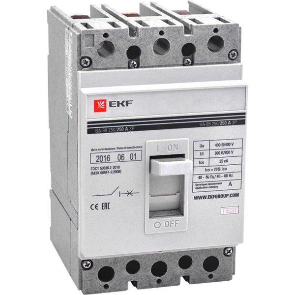 Выключатель автоматический 3п 250/125А 35кА ВА-99 PROxima EKF mccb99-250-125