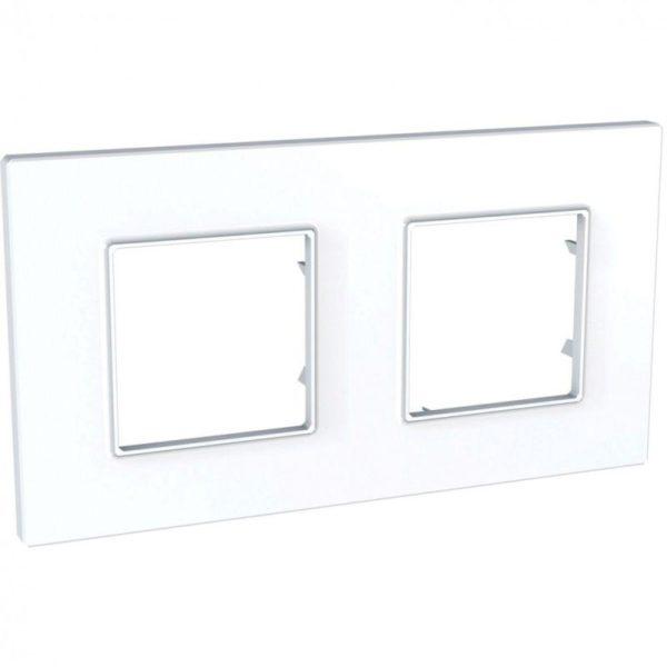 Рамка 2-м Unica quadro бел. SchE MGU2.704.18