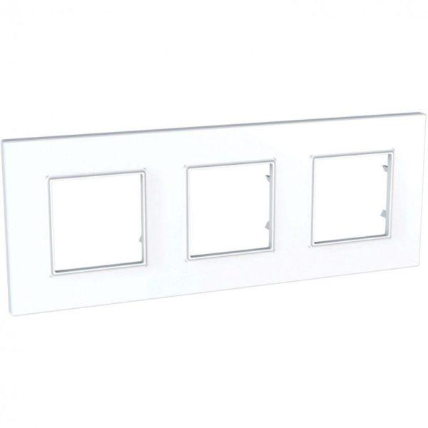 Рамка 3-м Unica quadro бел. SchE MGU2.706.18