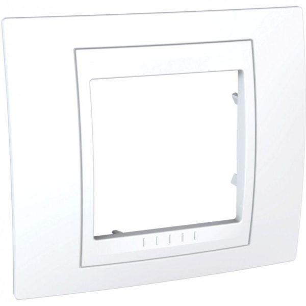 Рамка 1-м Unica Хамелеон бел. SchE MGU6.002.18