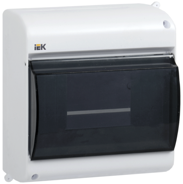 Бокс ОП КМПн 2/4 для 4 авт. выкл. прозр. крышка IP30 ИЭК MKP42-N-04-30-12