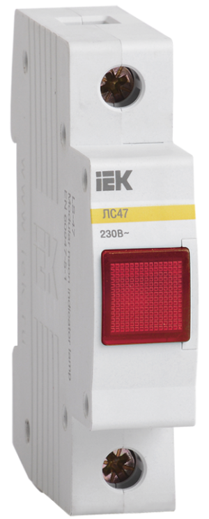 Лампа сигнальная ЛС-47 красн. ИЭК MLS10-230-K04