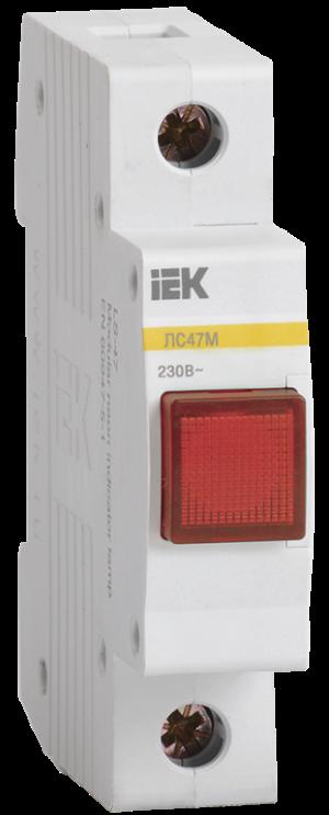 Лампа сигнальная ЛС-47М красн. ИЭК MLS20-230-K04