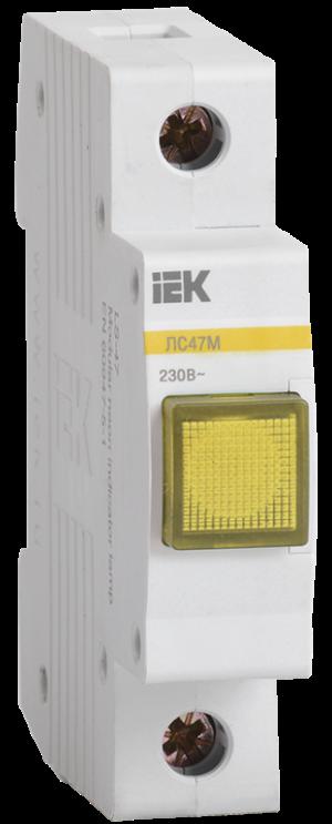 Лампа сигнальная ЛС-47М жел. ИЭК MLS20-230-K05