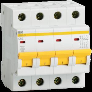Выключатель автоматический модульный 4п C 25А 4.5кА ВА47-29 ИЭК MVA20-4-025-C