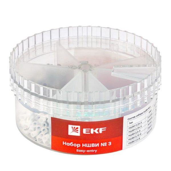Набор НШВИ №3 (0.25-1кв.мм) PROxima EKF nabor-nshvi-3