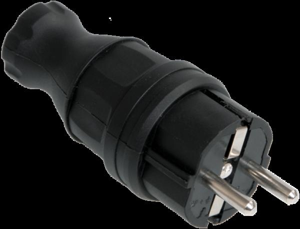 Вилка электрич. прям. ОМЕГА с заземл. IP44 ВБп3-1-0м каучук ИЭК PKR01-016-2-K02