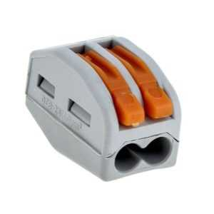 Клемма СМК-412 с рычагом 2 отверстия 0.08-2.5кв.мм (уп.2шт) PROxima EKF plc-smk-412r