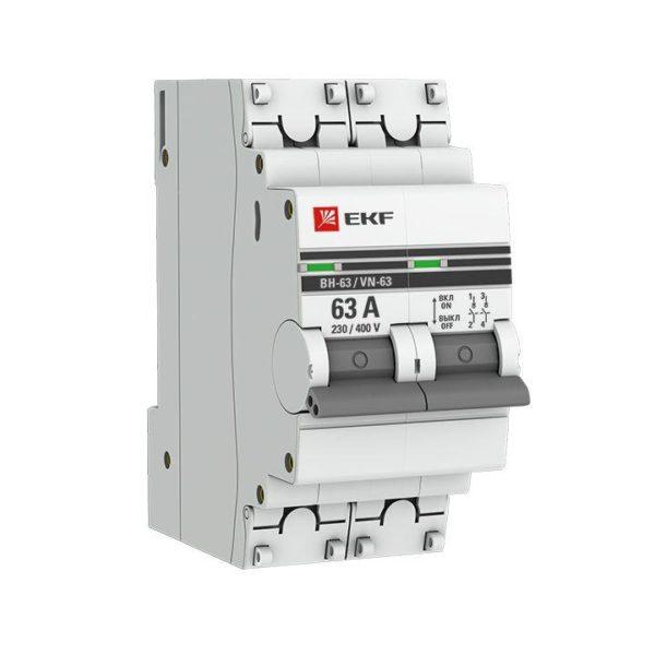 Выключатель нагрузки 2п 63А ВН-63 PROxima EKF SL63-2-63-pro