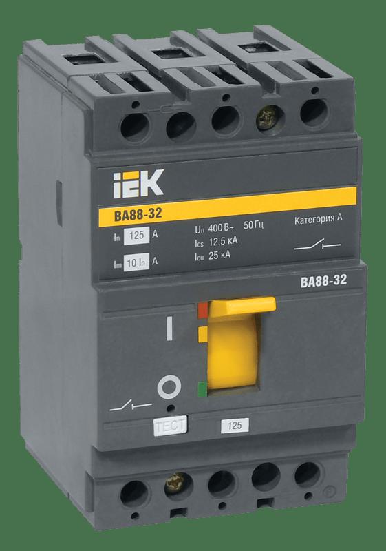 Выключатель автоматический 3п 63А 25кА ВА 88-32 ИЭК SVA10-3-0063