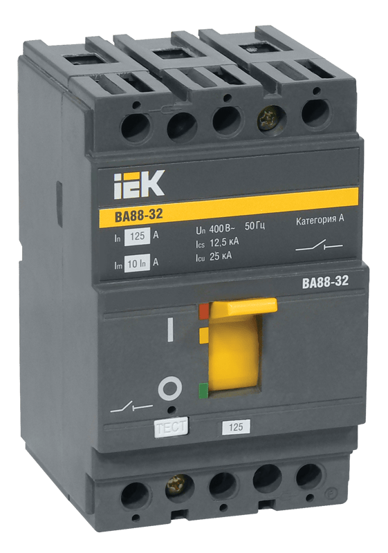 Выключатель автоматический 3п 80А 25кА ВА 88-32 ИЭК SVA10-3-0080