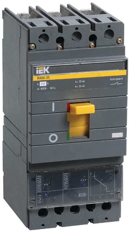 Выключатель автоматический 3п 250А 35кА ВА 88-35 электр. расцеп. MP 211 ИЭК SVA31-3-0250