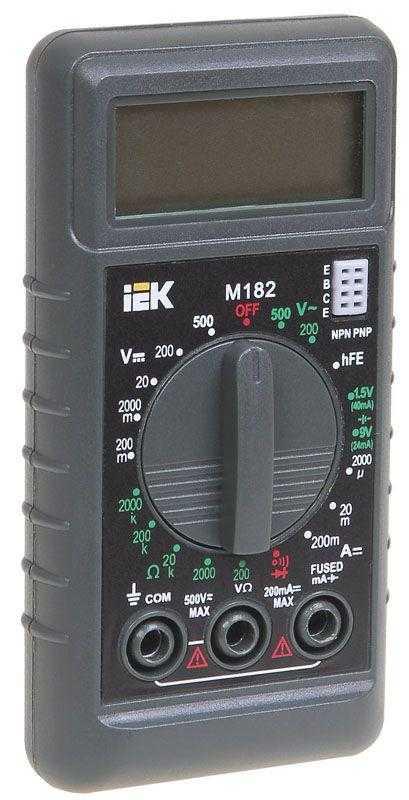 Мультиметр цифровой Compact M182 ИЭК TMD-1S-182
