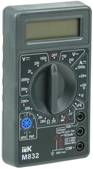 Мультиметр цифровой Universal M832 ИЭК TMD-2S-832