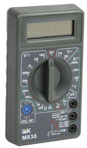Мультиметр цифровой Universal M838 ИЭК TMD-2S-838
