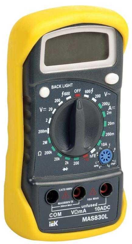 Мультиметр цифровой Master MAS830L ИЭК TMD-3L-830