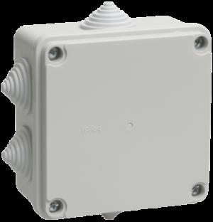 Коробка распаячная ОП 100х100х50 IP44 KM41233 (6 каб. ввод.) ИЭК UKO11-100-100-050-K41-44