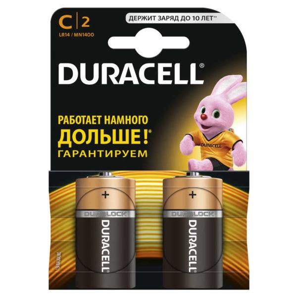 Элемент питания алкалиновый LR MN 1400/LR14 BP-2 (блист.2шт) Duracell Б0014054