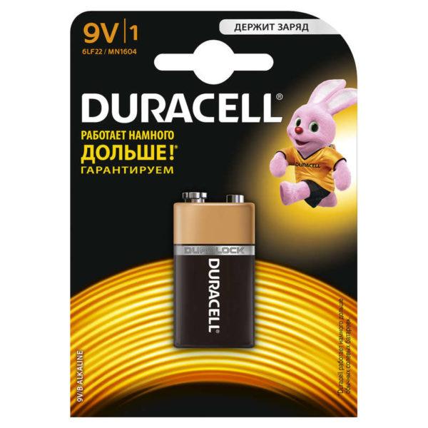 """Элемент питания алкалиновый """"крона"""" LR MN 1604/6LR61 ВР-1 (блист.1шт) Duracell 754"""