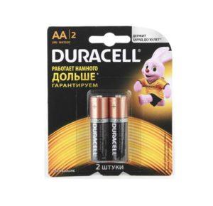 Элемент питания алкалиновый LR MN 1500/LR6 Basic BP-2 (блист.2шт) Duracell Б0014044/Б0026814
