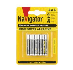 Элемент питания алкалиновый 94 751 NBT-NE-LR03-BP4 (блист.4шт) Navigator 94751