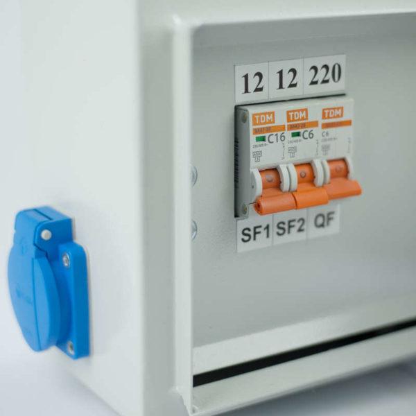 Ящик с понижающим трансформатором ЯТП 0.25 220/12В (3 авт. выкл.) IP54 Кострома ОС0000016339