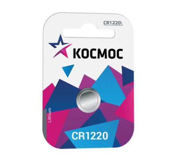 Элемент питания литиевый CR CR1220 1хBL (блист.1шт) Космос KOCR12201BL