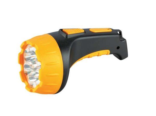 Фонарь LED 3815 (аккум 220В черн/жел. 15 LED; 2 режима SLA пласт. короб) Ultraflash 9217
