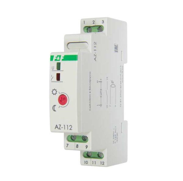 Фотореле AZ-112 (выносной герметичный фотодатчик монтаж на DIN-рейке 1 модуль 230В 16А) F&F EA01.001