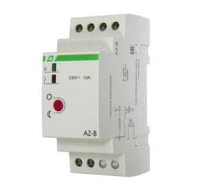 Фотореле AZ-B (выносной герметичный фотодатчик IP65 монтаж на DIN-рейке 2 модуля 230В 16А 1НО IP20)(