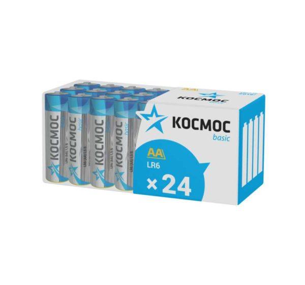 Элемент питания алкалиновый LR6 пласт. бокс (уп.24шт) Космос KOCLR6_24BOX