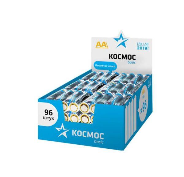 Элемент питания алкалиновый LR6 (уп.96шт) Космос KOCLR6_96BOX