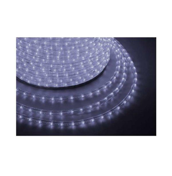 Шнур светодиодный Дюралайт фиксинг круглый 13мм 2Вт/м 220В IP54 бел. (уп.100м) NEON-NIGHT 121-125-6