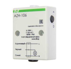Фотореле AZH-106 (встроенный фотодатчик на плоскость 230В 16А 1 перекл. IP65) F&F EA01.001.002