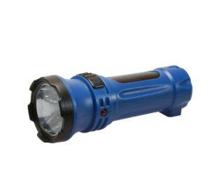 Фонарь светодиодный аккум. LED 2 режима 0.5Вт 300мА.ч прямая зарядка от 220В Космос KOCAcc102LED