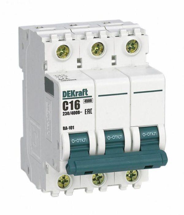 Выключатель автоматический модульный 3п D 32А 4.5кА ВА-101 SchE 11129DEK