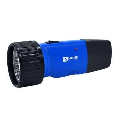 Фонарь аккумуляторный ручной MLA 01-C 5LED 120лм 6ч 2 реж. з/у 230В син. IN HOME 4690612031743