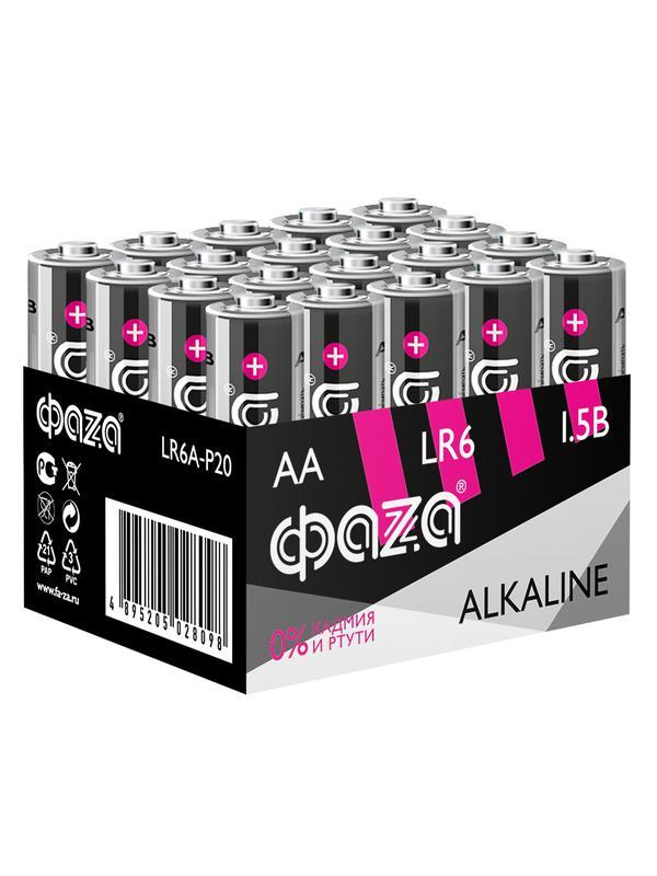 Элемент питания алкалиновый LR6 Alkaline Pack-20 (уп.20шт) ФАZА 5028098
