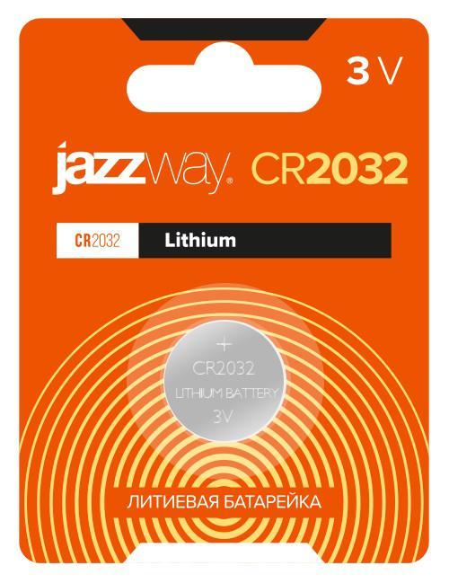 Элемент питания литиевый CR2032 BL-1 JAZZway 2852892