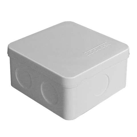 Коробка распределительная ОП 84х84х45мм IP54 7 выходов без гермовводов крышка защелкивающаяся сер. E