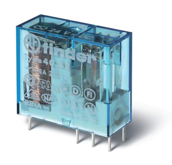 Реле миниатюрное 2CO 8А кат. 24В АС FINDER 4052802400000