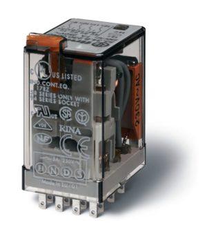 Реле миниатюрное универсальное электромеханич. монтаж в розетку 4CO 7А AgNi 230В AC RTI FINDER 55348