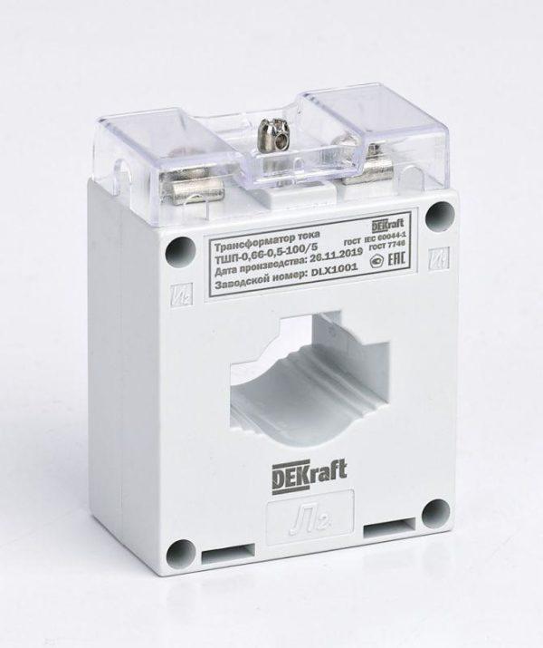 Трансформатор тока ТШП-0.66 0.5 150/5 5В.А D30мм SchE 50135DEK