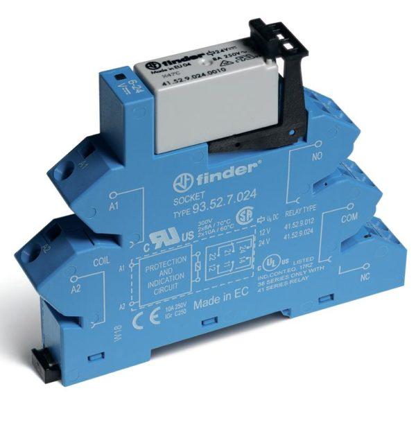 Модуль интерфейсный электромеханич. реле 2CO 8А AgNi 24В DC (чувствит.) IP20 безвинт. клеммы (пружин