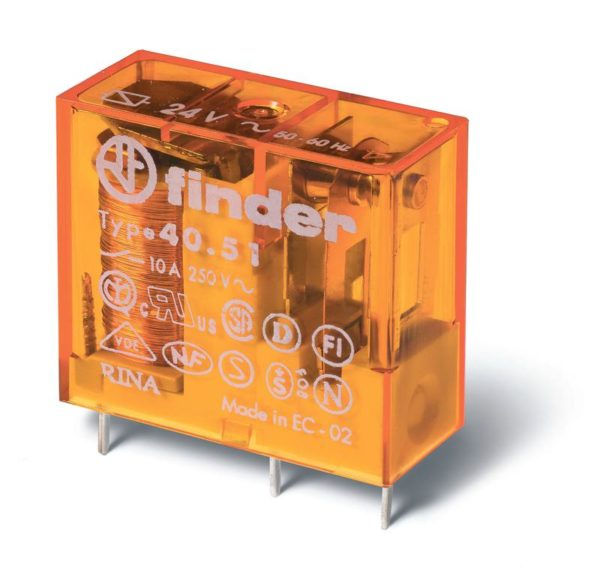 Реле электромеханическое миниатюрное универсальное монтаж на печатную плату или в розетку выводы с ш