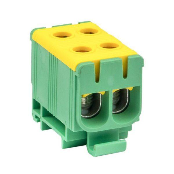 Клемма силовая вводная двойная КСВ 16-50кв.мм жел./зел. EKF plc-kvs2-16-50-y-green