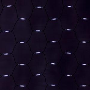 """Гирлянда Сеть, LED диоды,  2х3м., (432 диодов), черный провод """"каучук"""", белые диоды, с контроллером  NEON-NIGHT"""