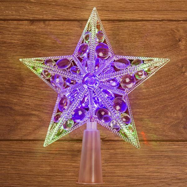 "Фигура светодиодная ""Звезда"" на елку цвет: RGB, 10 LED, 17 см"